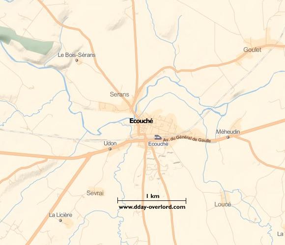Image : Carte de Ecouché dans l'Orne