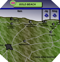 Image : Plan de Gold Beach