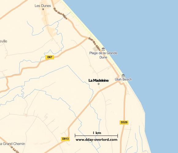 Image : carte de la commune de La Madeleine