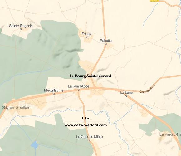 Image : Carte de Le Bourg Saint-Léonard dans l'Orne