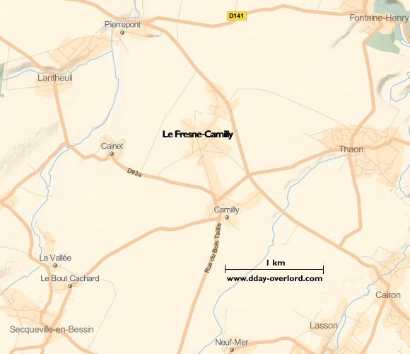 Image : Carte de Le Fresne-Camilly dans le Calvados