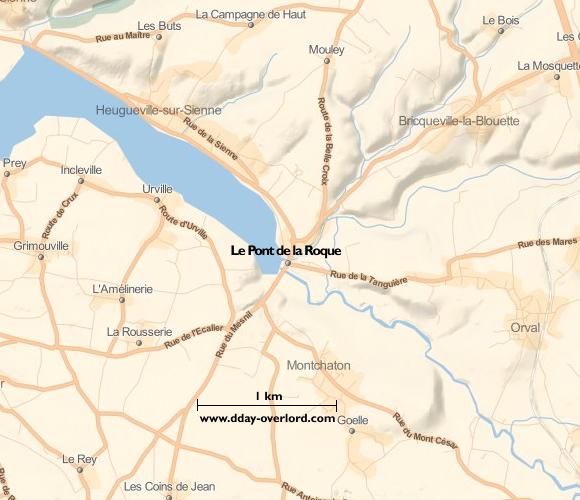 pont de normandie carte Le Pont de la Roque in 1944 – Battle of Normandy – D Day Overlord