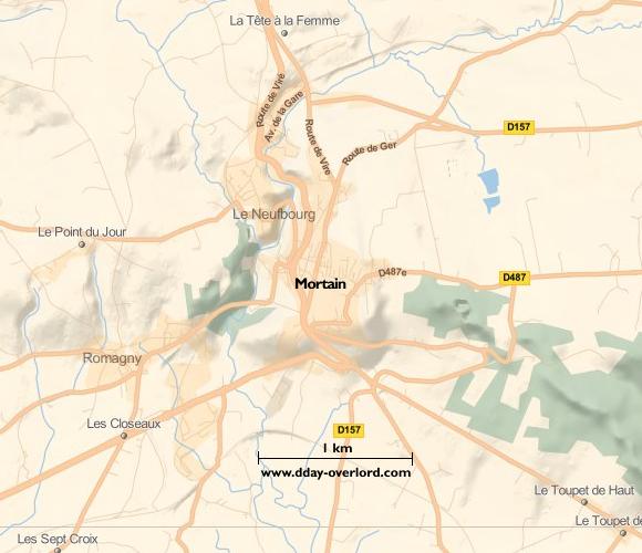 Image : carte de Mortain