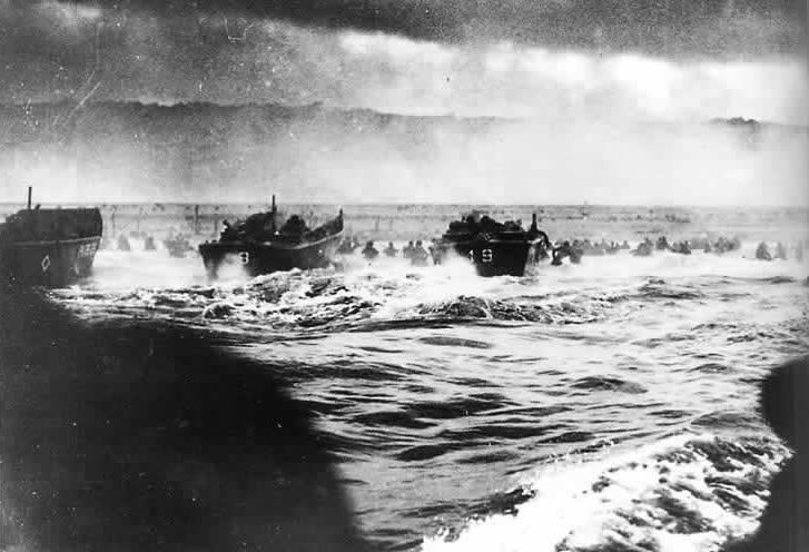 Photo Of The Landing On Omaha Taken By Us Coast Guard National Archives