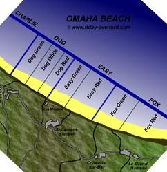 Image : Plan d'Omaha Beach