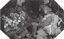Image : Des parachutistes Britanniques dans l'avion qui les mêne vers leurs objectifs en Normandie