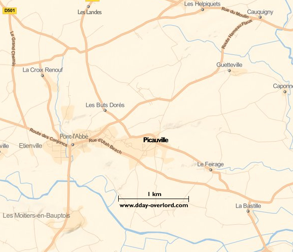 Image : carte de Picauville