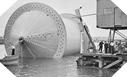 """Image : Le cylindre """"conundrum"""" autour duquel est enroulé le pipeline"""