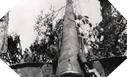 Image : Un des canons de 155 cachés à 1 kilomètre au Sud de la batterie