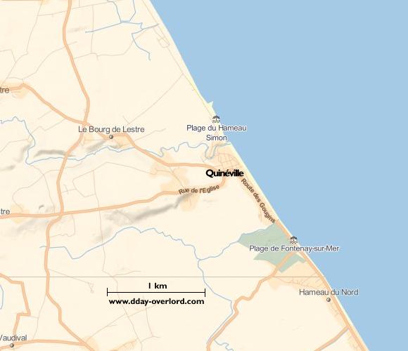 Image : carte de Quinéville