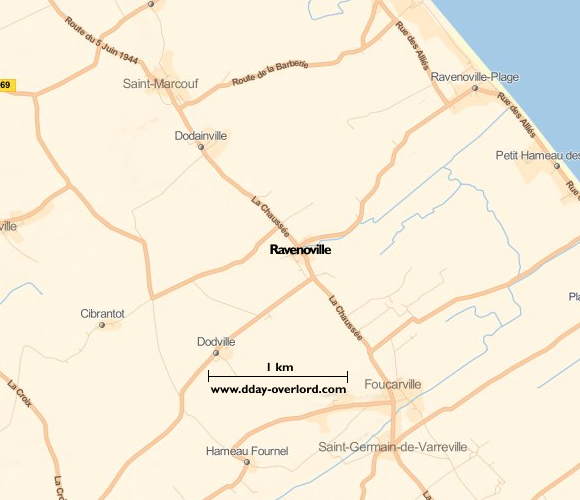 Image : carte de Ravenoville