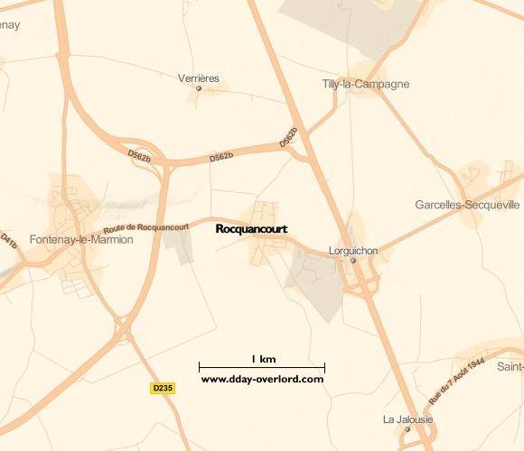 Image : carte de la commune de Rocquancourt