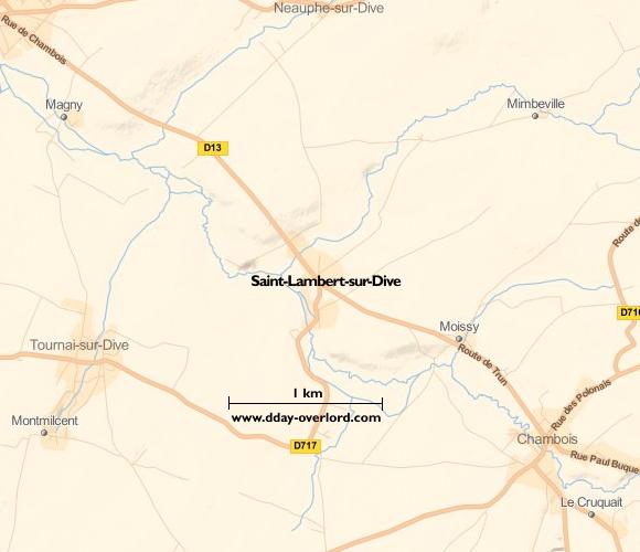 Image : Carte de Saint-Lambert-sur-Dive dans l'Orne