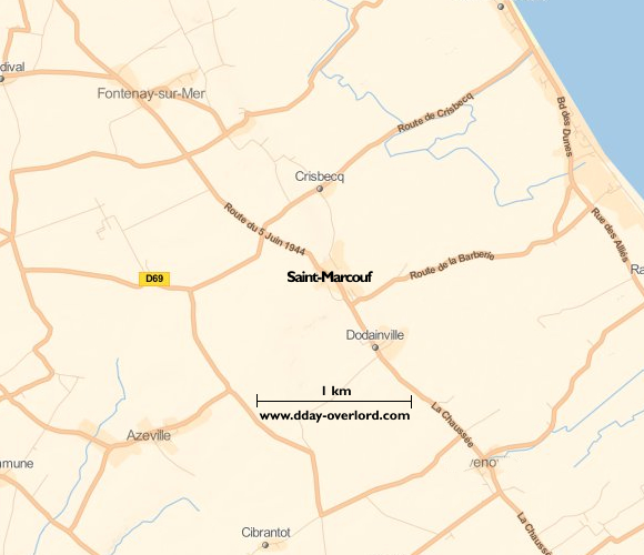 Image : carte de Saint-Marcouf