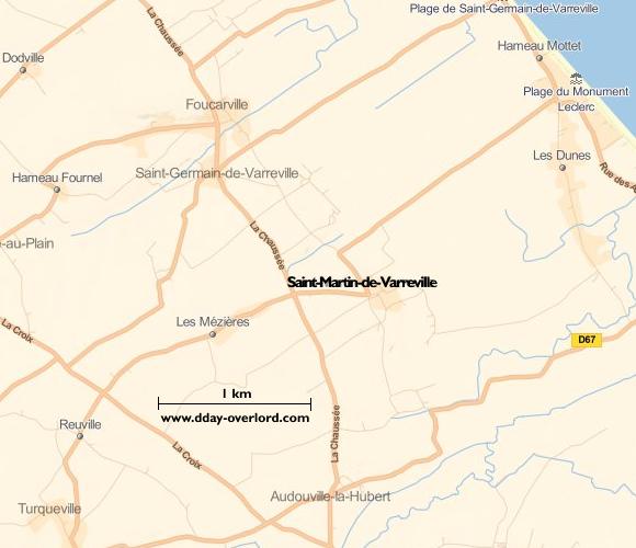 Image : carte de la commune de Saint-Martin-de-Varreville