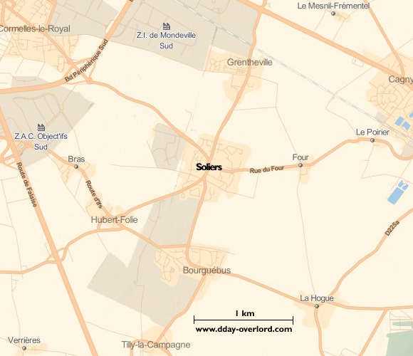 Image : carte de la commune de Soliers