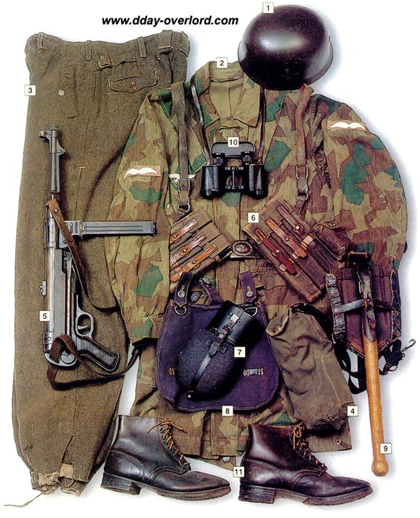 Image : Tenue de parachutiste allemand