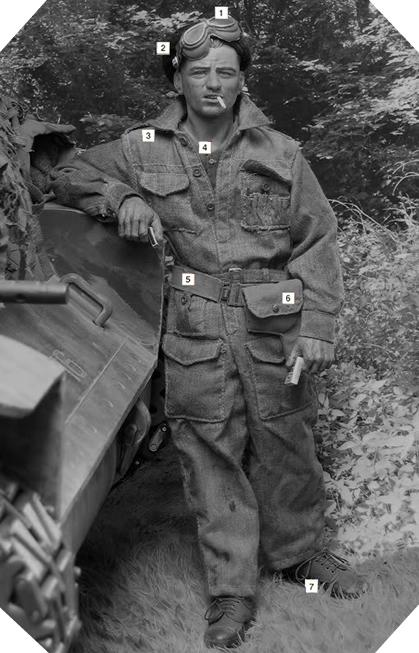 WW2 British tanker uniform