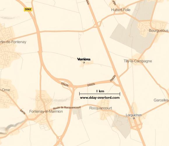 Image : carte de la commune de Verrières