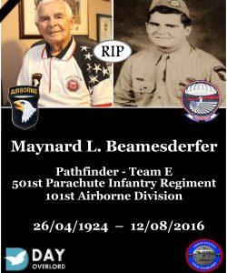 Maynard L. Beamesderfer, 101st Airborne Division