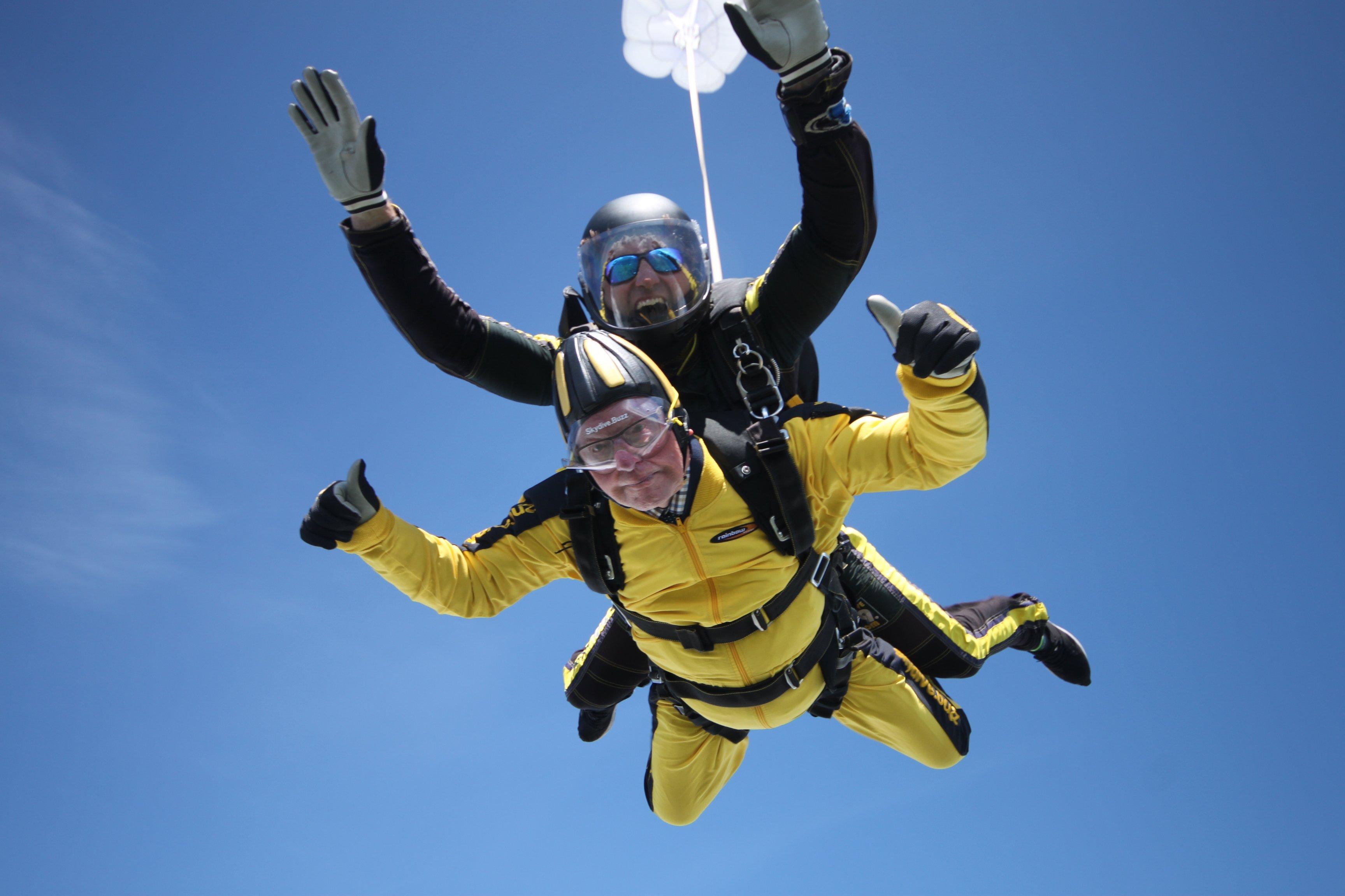 Skydiving grandma Irene OShea breaks record for worlds