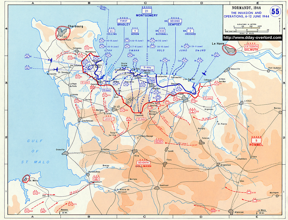 bataille de normandie carte Cartes de la Bataille de Normandie – 1944 – D Day Overlord