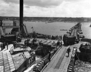 Port artificiel Saint-Laurent en Normandie