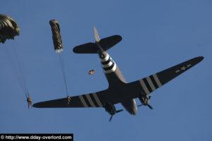 Parachutage Liberty Jump - Commémorations 2007 - 63ème anniversaire du débarquement de Normandie. Photo : D-Day Overlord