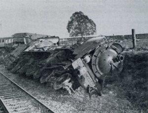 Déraillement du 16 avril 1942 à Airan. Photo : DR