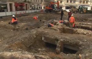 Deux bunkers allemands découverts à Rouen lors de fouilles archéologiques. Crédit photo : France 3 Normandie