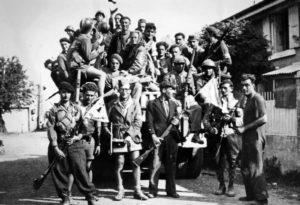 Les résistants français de la compagnie Morin au maquis de Saint-Marcel en Bretagne