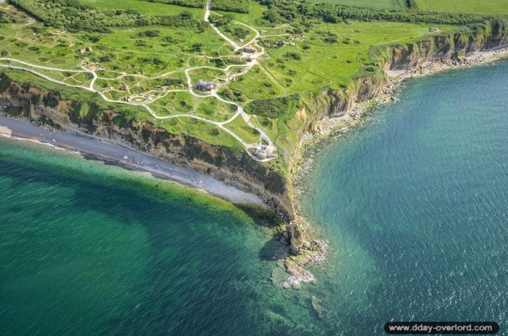 Vue aérienne Pointe du Hoc