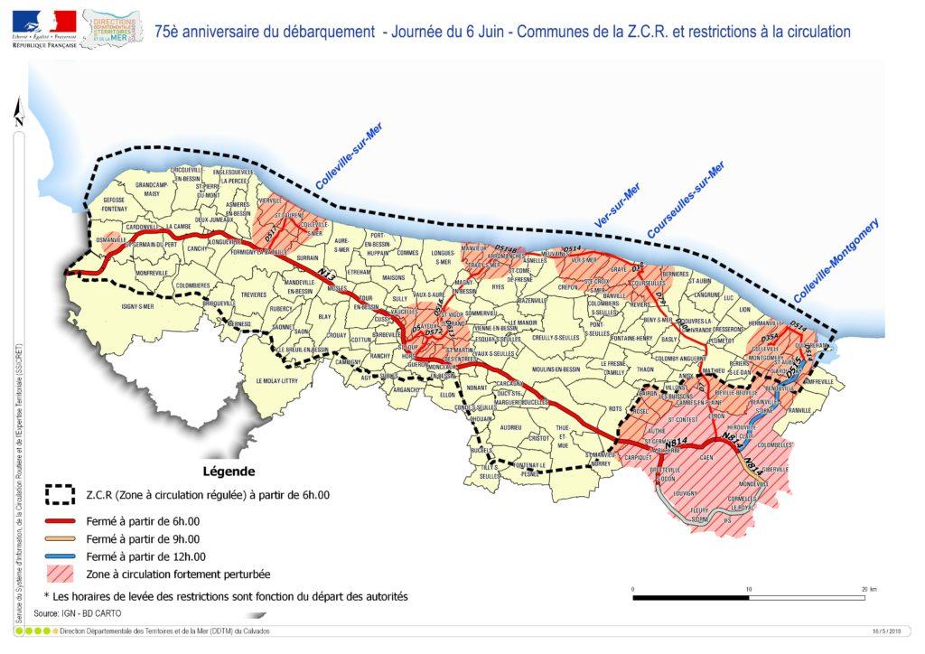 Restrictions de circulation le 6 juin 2019 en Normandie