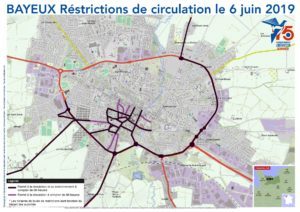 Restrictions de circulation Bayeux 6 juin 2019